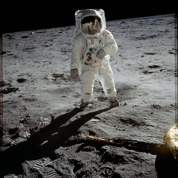 Reflections of Humanity in a Spacesuit for Moonwalkers