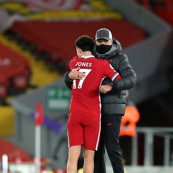 Blood Red: Curtis Jones rewards Jurgen Klopp trust as Reds put down a Premier League marker against Leicester