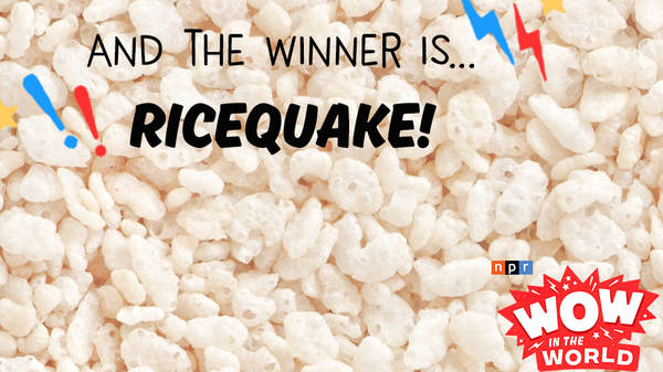 And the winner is...RICEQUAKE! (encore)